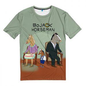 Мужская футболка 3D «BoJack»