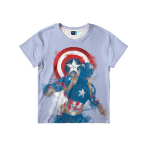 "Детская футболка ""Капитан Америка"""