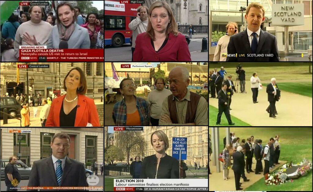 съемка в новостях